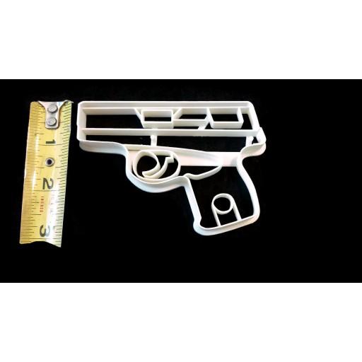 "3D Printed Detailed 380 Handgun Cookie Cutter 4"" x 2 3/4"""