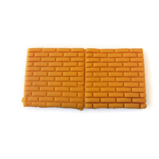 "3D Printed Brick pattern fondant cutter 2"" x 2"""