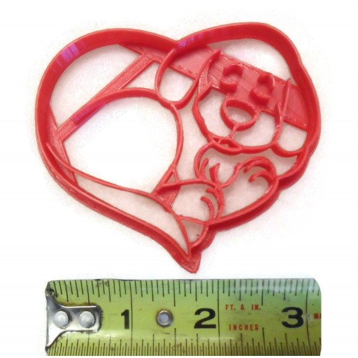 Dog Heart Cookie cutter fondant cutter
