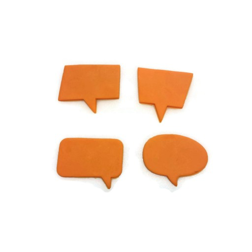 Comic Book Style Speech Bubble Cookie Cutter Set