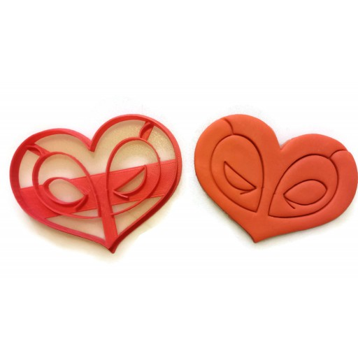 Deadpool Heart Cookie Cutter