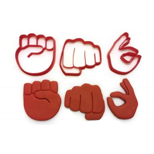 Emoji Hand gesture Cookie Cutter Set 1