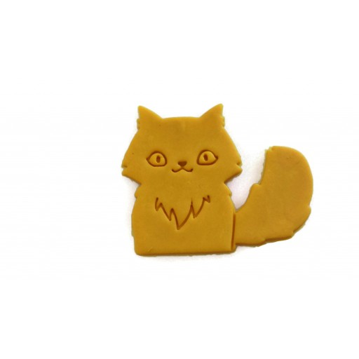 3D Printed Fluffy Cat Cookie Cutter