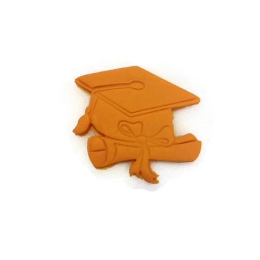 "3D Printed Detailed Graduation Cap and Scroll cookie cutter 3 1/2"" x 3"""