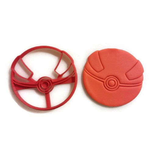 Pokemon Great Ball cookie cutter