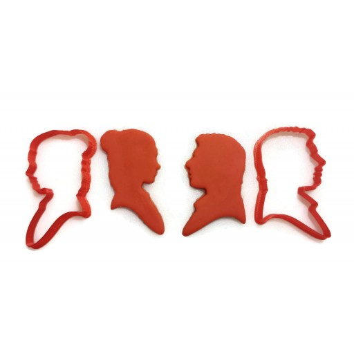 Star Wars Han Solo and Princess Leia Cookie Cutter set