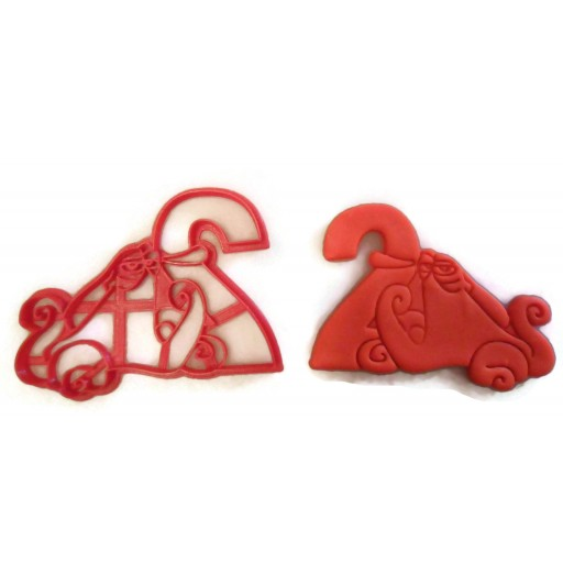 Hank from Finding Dory Birthday Cookie Cutter with the number 2