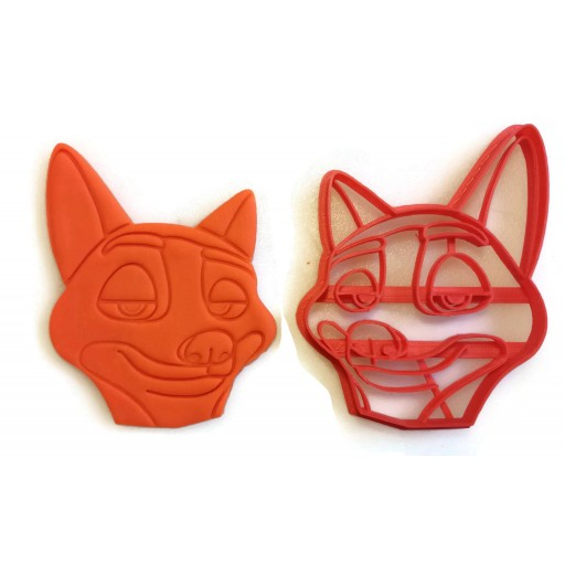 Zootopia Nick Wilde and Lt. Judy Hopps cookie cutter set