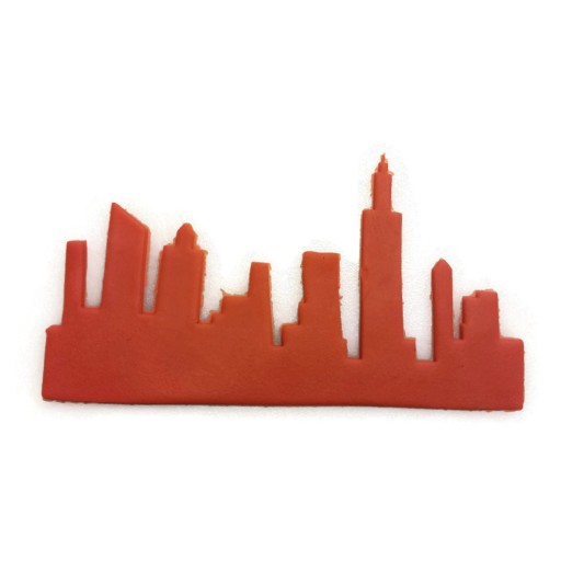 New York City Skyline Fondant Cutter