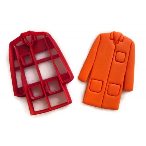Doctor White Coat Lab Coat Cookie cutter fondant cutter