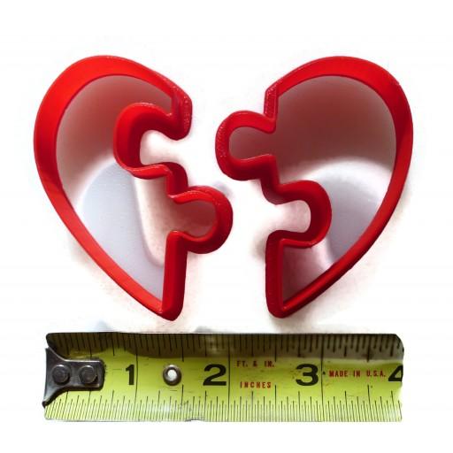 Heart Puzzle Cookie Cutter Fondant Cutter