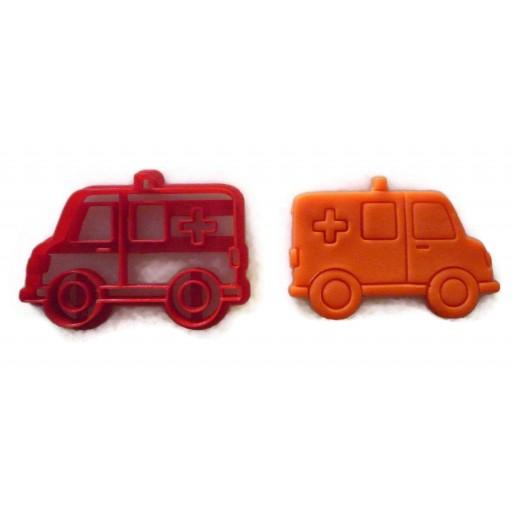 Ambulance cookie cutter fondant cutter