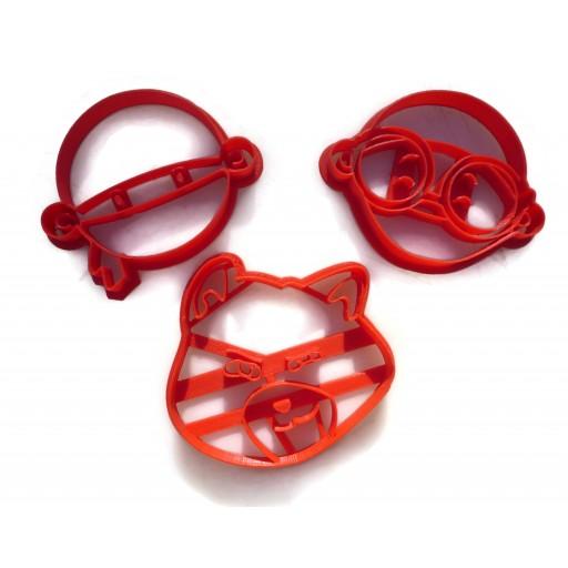 Hello Ninja Wesley Georgie Pretzel Cookie Cutter Fondant Cutter set