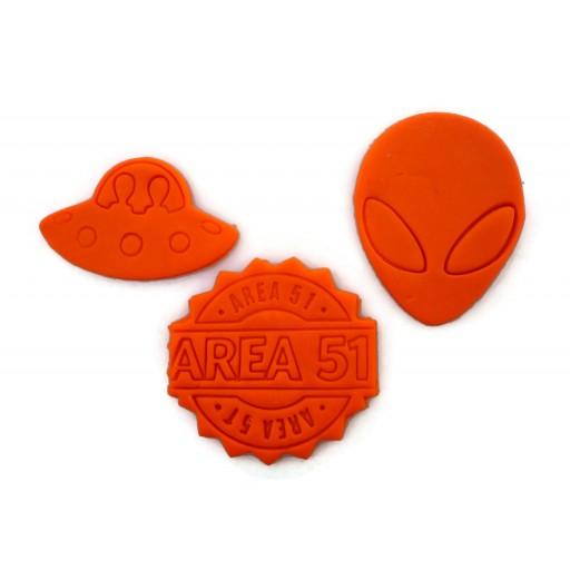 Area 51 alien cookie cutter set