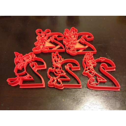 Mickey Mouse Clubhouse 2nd Year Birthday Custom Cookie Cutter Set