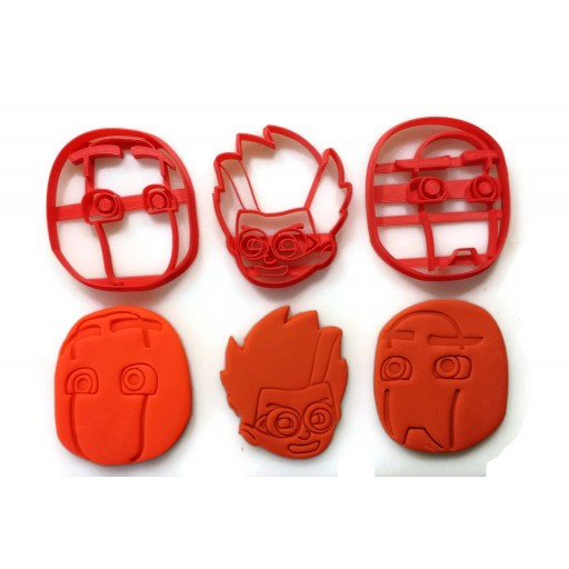 PJ Masks Romeo, Night Ninja, Ninja Linos villain cookie cutter set