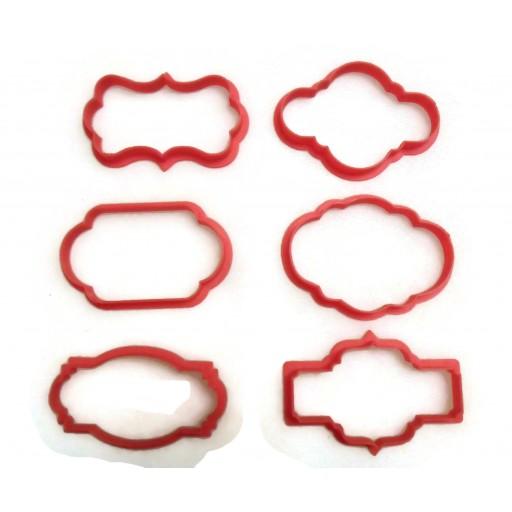 Plaque cookie cutter fondant cutter set