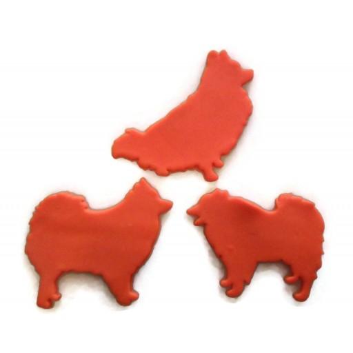 Pomeranian Dog Cookie Cutter Fondant Cutter Set