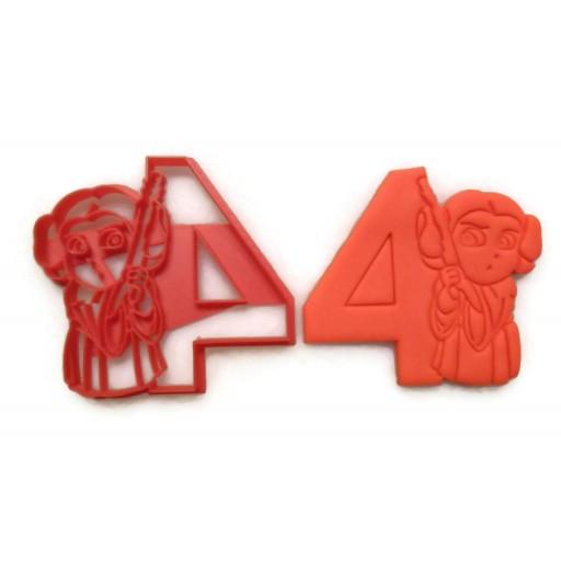Princess Leia age 4 cookie cutter