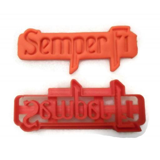 US Marines Semper Fi cookie cutter fondant cutter