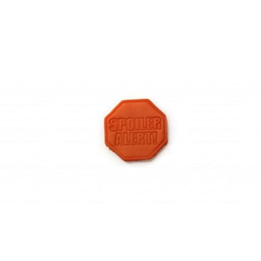 3D Printed Spoiler Alert Cookie Cutter Fondant Cutter