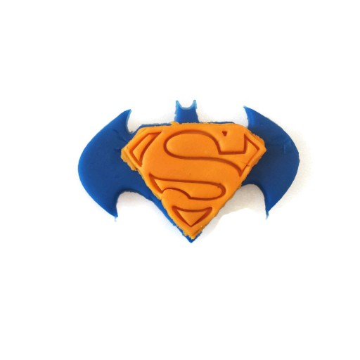 "Superman Batman Fondant Cutter 3"" x 2"""