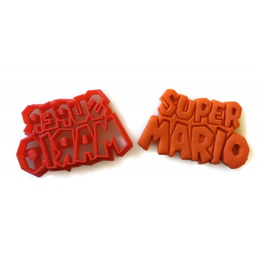 Super Mario Brothers Logo Cookie Cutter