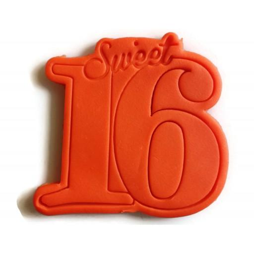 Sweet Sixteen cookie cutter