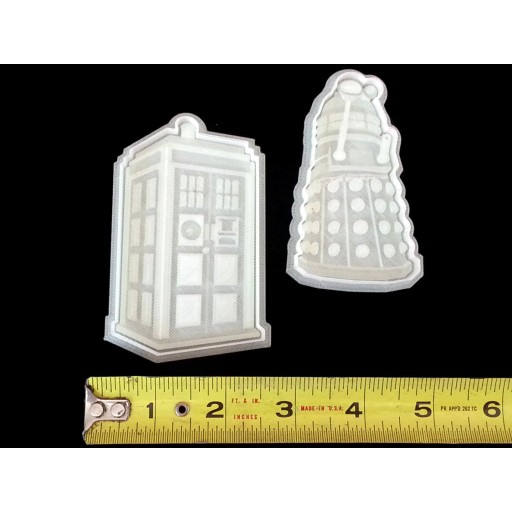 Dr Who Dalek and Tardis Cookie Cutter set