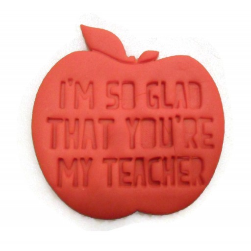 Teacher appreciation cookie cutter