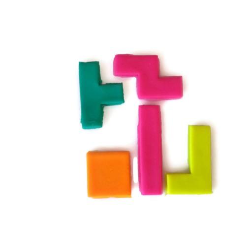 3D Printed Tetris Cookie Cutters Set