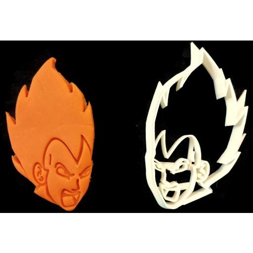 Dragon  Ball Z Vegeta Face cookie cutter