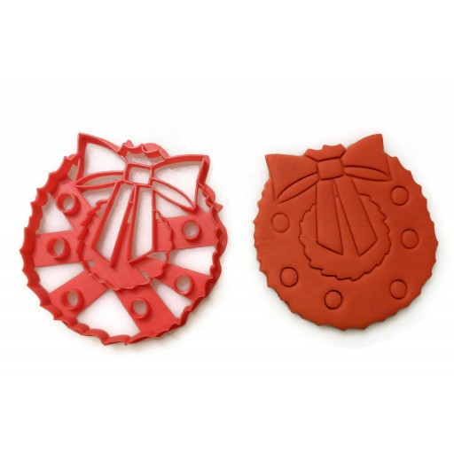 Christmas Wreath Cookie cutter fondant cutter