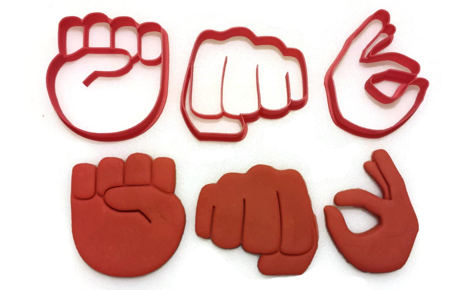 Emoji hand gesture cookie cutter set things4thinkers emoji hand gesture cookie cutter set 1 biocorpaavc