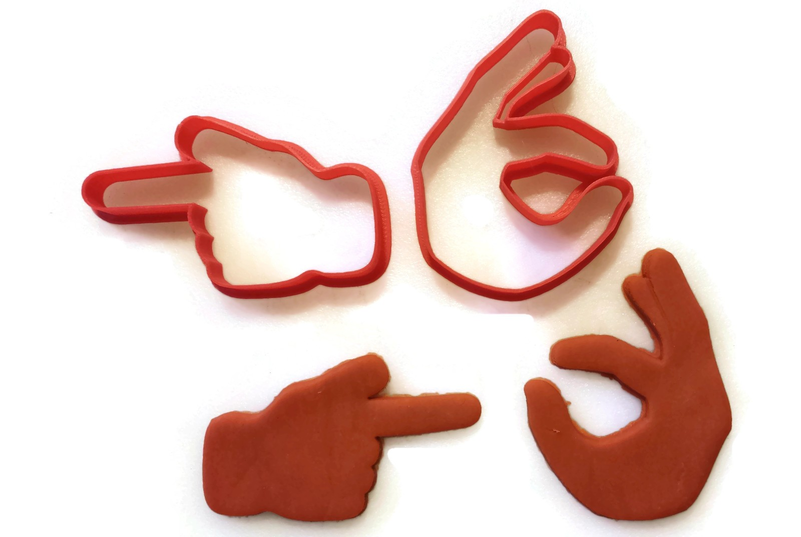 Emoji Pointing Finger And Ok Cookie Cutter Fondant Cutter Set