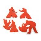 Jiu Jitsu cookie cutter fondant cutter set