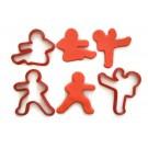 Ninja breadman 3 piece cookie cutter fondant cutter set