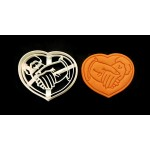 Heart holding hands wedding style cookie cutter