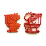 Calvin and Hobbes Calvin in the Toilet cookie cutter