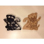 Daniel Tiger Cookie Cutter holding the number 2. Perfect for your kid's 2nd year birthday party!