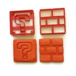 Super Mario Brothers Brick and Question mark fondant cutters