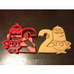 Minions Cookie Cutter holding the number 2 from Despicable Me