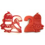 Minions cookie cutter holding the number 2 Great for your kids birthday