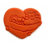 Sloth in heart cookie cutter fondant cutter