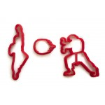 Street Fighter 2 Ken and Ryu with Fireball cookie cutter fondant cutter set