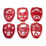 Power Rangers Dino Charge cookie cutter set