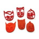 PJ Masks Catboy Gekko Owlette Cookie Cutter Set