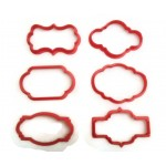 Plaque cookie cutter fondant cutter set