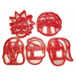 Rick and Morty Beth Jerry Summer smith family cookie cutter set