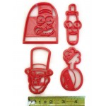 Rick and Morty Abradolf Lincler Pickle Rick Mr Poopy Butthole Plumbus cookie cutter set
